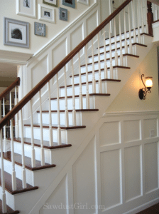 House Tour – Stairs and Upstairs Hallway
