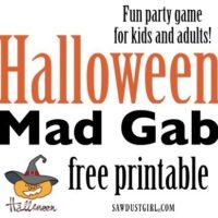 Super fun Halloween party game! Halloween Mad Gab