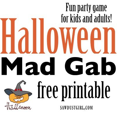 Halloween Mad Gab Halloween Party Ideas Sawdust Girl