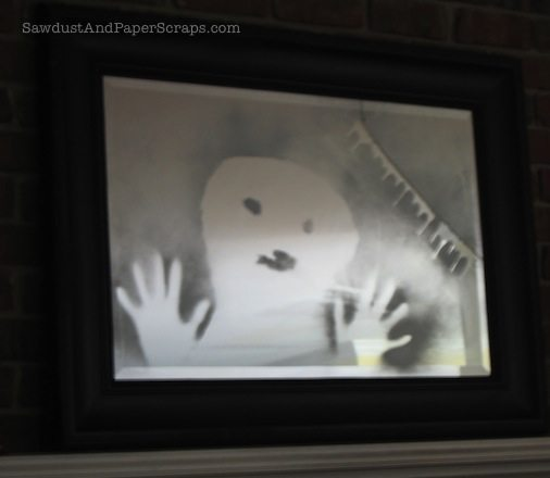 trapped soul halloween mirror