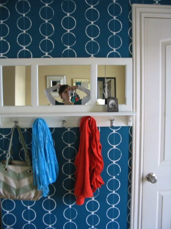 DIY stenciled walls