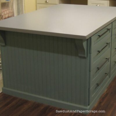 How to build a Painted MDF Countertop