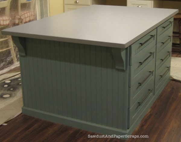How to build a painted mdf countertop sawdust girl for Building kitchen cabinets with mdf