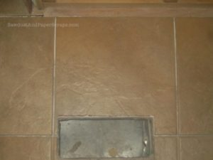 How to Cut Tile Around a Vent