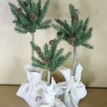 pine tree topiaries