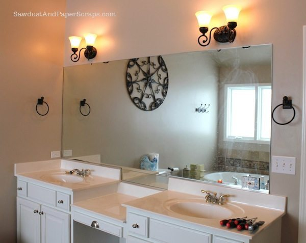 How to Remove Builder Mirrors - Sawdust ® How To Remove A Bathroom Mirror on diy duct tape ideas wall mirror, things in the mirror, removing vanity mirror,