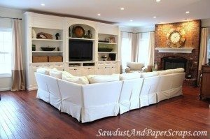 Living Room with Built-in Entertainment Center