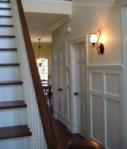 House Tour – Downstairs Hallway and Powder Room