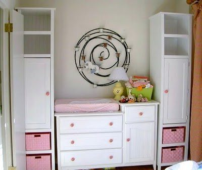DIY Storage Cabinets and Baby Changing Station