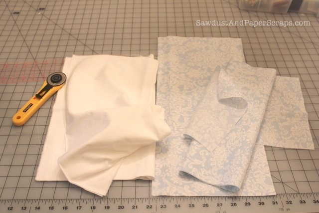 Sewing ruffled grocery bags