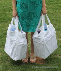 Reversible, Ruffled, Reusable Grocery Bags