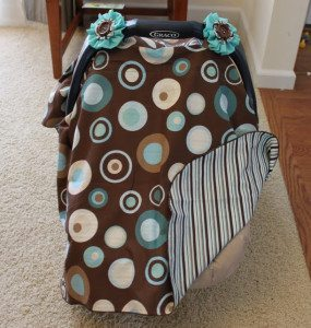 Fabric Car Seat Cover Tutorial