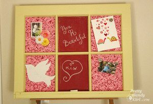 Memo Board and Homemade Chalkboard Paint