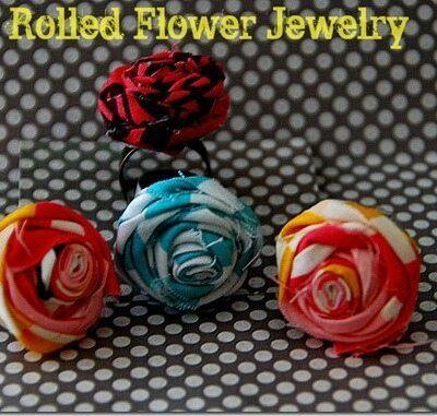Rolled Flower Jewelry