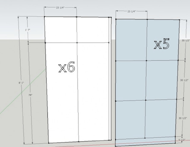 design layout for sawdust girl master closet