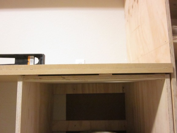 ... . (More on adding wood edging on this Painted MDF Countertop post