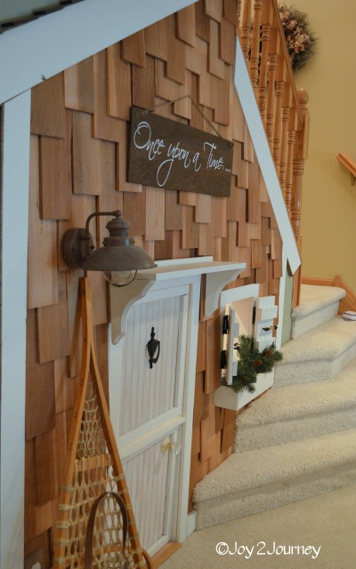 Lighting Basement Washroom Stairs: Guest Build{HER}: Joyful Closet Playhouse