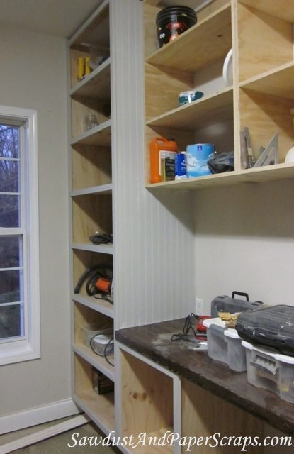 how to apply beadboard to a cabinet