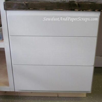 Attaching Cabinet Drawer Fronts