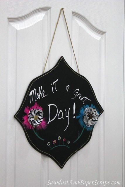 Decorative Chalkboard Craft Sawdust Girl 174