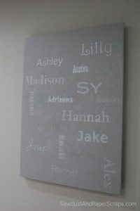 Grandchild names – Subway Art – gift idea