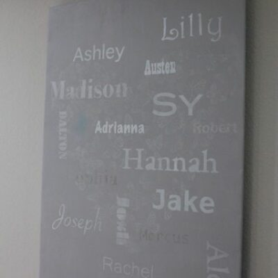 Grandchild names – Subway Art – gift idea