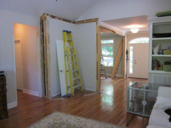 Living Room Demolition Sawdust Girl 174