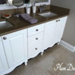 how to make your bathroom vanity look like custom furniture
