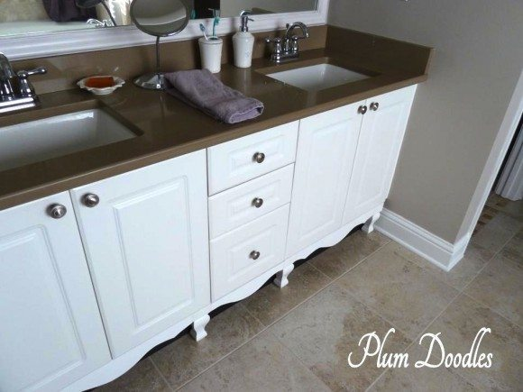 Make A Bathroom Vanity Look Like A Custom Piece Of