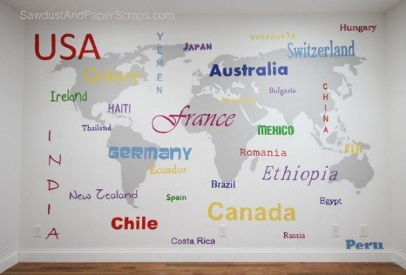 world map subway art