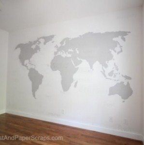 World Map Wall Painting