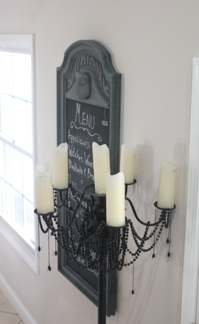 Ghostly Halloween Menu Chalkboard