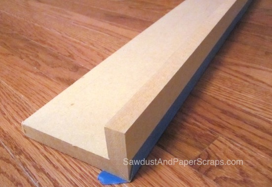 Keeping pieces from sliding during glue up of a mitered joint.