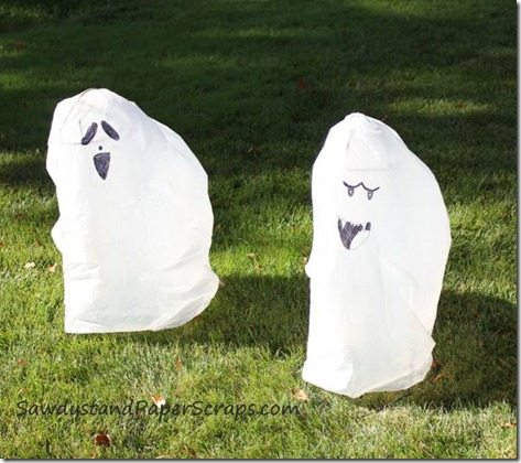 Trash Bag Ghosts Kids Corner Sawdust Girl 174