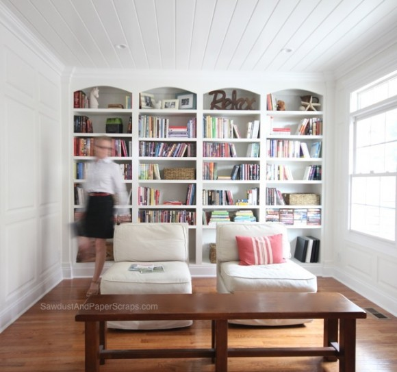 Library - SawdustGirl.com house tour