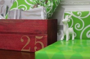 Wooden Crate Christmas Advent Calendar