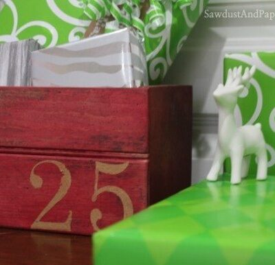 Wooden Crate Christmas Advent Calendar