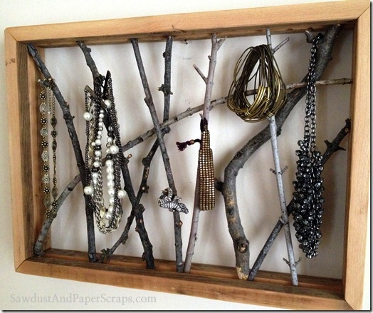 Twig Frame Jewelry Holder