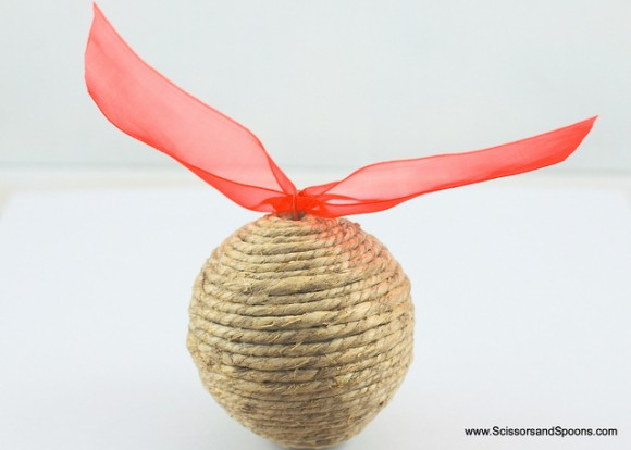 Twine diy Christmas Ornament