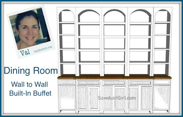 Dining room built in buffet project part1 sawdust girl for Built in dining room buffet ideas