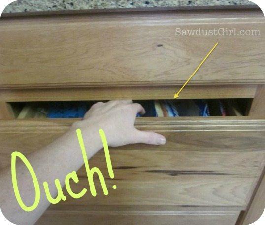 prevent sharp edges on cabinet face frames