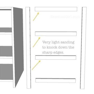 Avoid sharp edges on cabinet face-frames