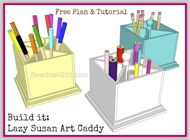 how to make a lazy susan art caddy