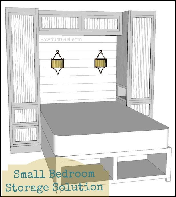 Small bedroom project wardrobe storage and organzation solution sawdust girl - Wardrobe solutions for small spaces paint ...