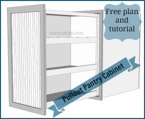 How to build and install a pull out pantry style storage cabinet