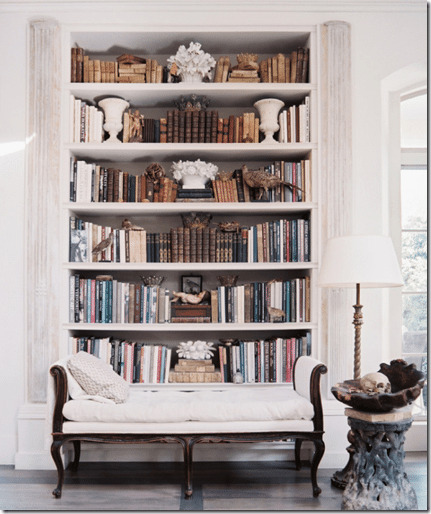 styling beautiful bookshelves