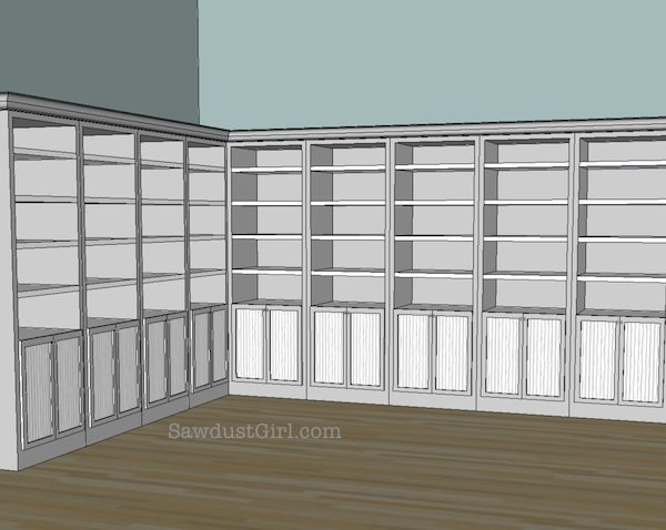 Craft studio cabinet door ideas