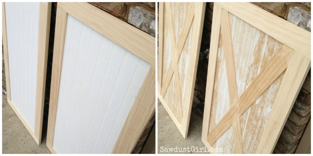 Laundry room cabinet doors