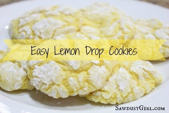Lemon Drop Cookies With Cake Mix