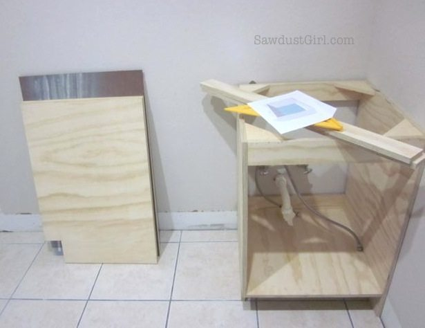 Building laundry room cabinets